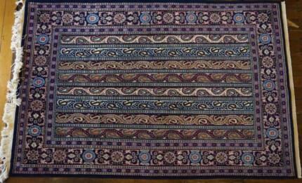 Royal Artistic Handmade Wall-hanging Qom Authentic Persian Rug