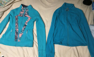 ivivva/lululemon (2) size 12 girls perfect your practice jackets