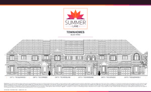 Peterborough new free hold town house with walkout basement