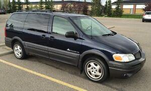 2002 Pontiac Montana Blue Minivan, Van
