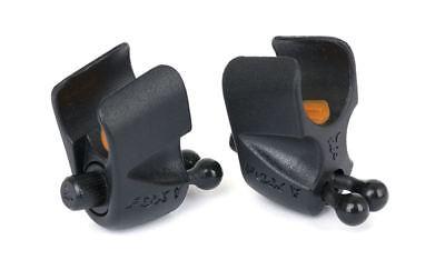 Fox Black Label Adjustable Rod Clip x2  / Carp Fishing Indicator
