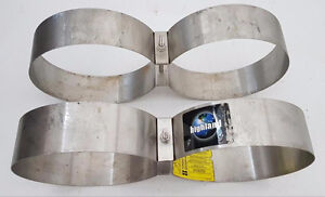 """Highland Stainless Steel 2.5"""" Scuba Doubles bands"""