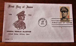 1971 GENERAL DOUGLAS MacARTHUR 6 Cent First Day Cover Kitchener / Waterloo Kitchener Area image 2