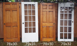 Solid Wood Doors and French Doors - $40 each