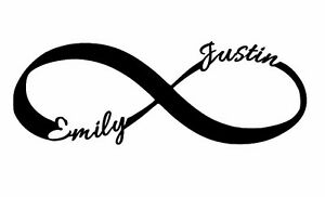 Infinity Symbol with Names