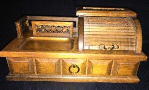 Vintage Pat Yoshikawa Wood Roll Top Valet Jewellery Box -REDUCED