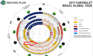 Brazil vs Argentina Platinum tickets M21 North Sydney North Sydney Area Preview