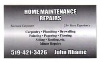 PLUMBING REPAIRS AND INSTALLATIONS