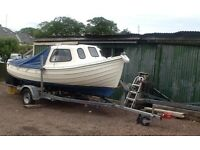 ORKNEY LONG LINER FISHING BOAT 16FT INCL. TRAILER
