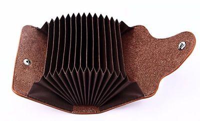Coffee Leather Aluminum Wallet RFID Blocking Pocket Holder Best Credit