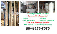 ☎☎ Licensed Plumber / Gas Fitter-20 yrs exp $60 hr- FREE Quote
