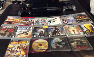 Playstation 3 With 2 Controllers and 16 Games