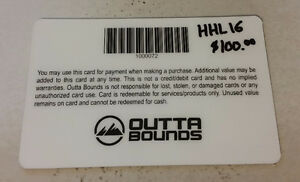 $100 Outta Bounds gift card to trade for bike hitch