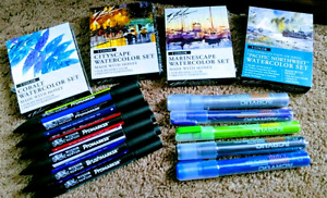 ART SUPPLIES - Vibrant Watercolors and Acrylics for painting.