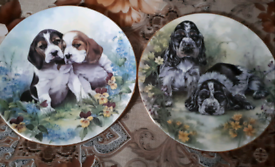 2 painted plates collection only