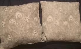 Grey art deco cushions TK Maxx Brand New