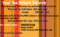 Tax preparation /filing @30