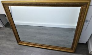 Large Gold Framed Antique Mirror