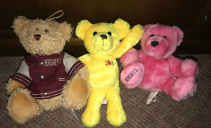 Hershey's Plush Teddy Bear Oh! Henry Pink Yellow Brown 6-9 Inch