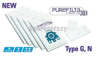 5 Cat /& Dog 800 To fit Miele Type G N H Purefilta HEPA 3D Bag /& Filter Pack
