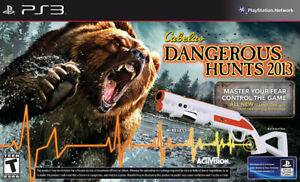 PS3 Cabelas Dangerous Hunts 2013 with Gun