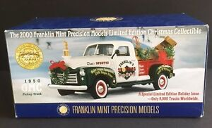 1/24 NOT 1/18 DIECAST FRANKLIN MINT 1950 GMC CHRISTMAS PICKUP