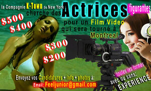 Film/Video cherche ACTRICES/figurentes