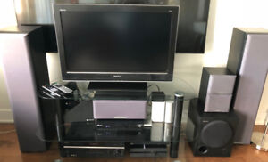 Sony TV & Home theater system for sale - GREAT FOR BASEMENT