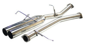 ISR Performance EP Straight Pipe Dual Tip Exhaust - 240sx S13