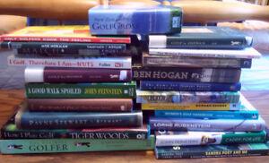 22 assorted Mens/Womens Golf Books including Instruction for $35