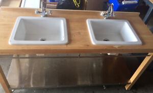IKEA Bathroom Vanity with Double Sink