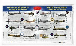 Stamps Canada #1808 Pane of 16 NH Canadian Forces Aircraft