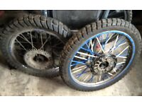Yamaha dt wheels new tyres Dt yz cr rs dr