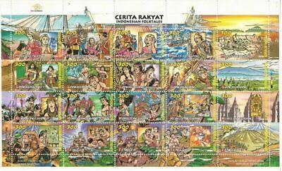Indonesia #Mi1759-Mi1778 MNH M/S CV€4.50 1998 Folktales [1759]