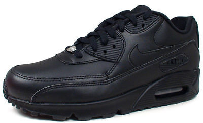 Nike Air Max 90 Leather Black Men's Basketball Sneakers  302519 001 Fast Ship K  (Nike Air Max 90 Basketball)