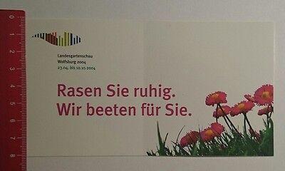 Ruhiger Garten (Aufkleber/Sticker: Landesgartenschau Wolfsburg 2004 Rasen sie ruhig (04121656))