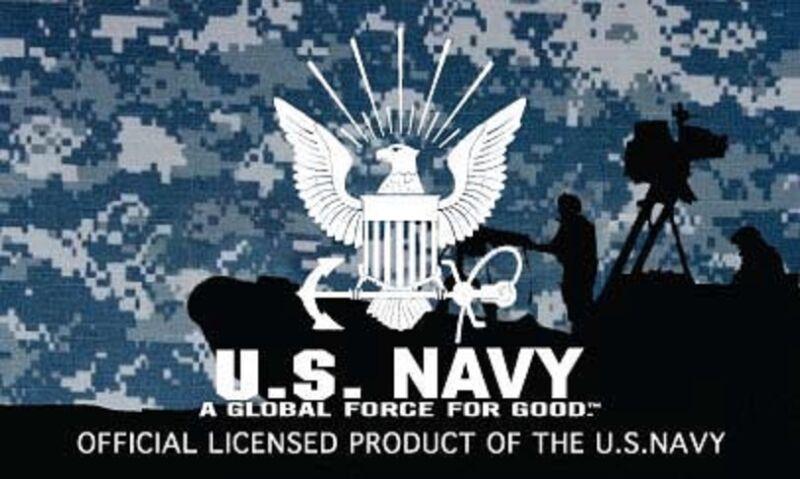 US Navy Submarine SERVICE Ball Cap Blue Digital Camo Dolphins Veteran Vet Hat L