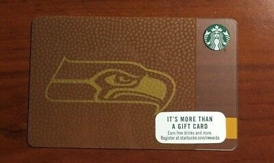 Rare Limited Edition 2017 Starbucks NFL Seattle Seahawks gift card, Never swiped - Nfl Gift Card