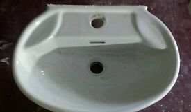 Basin for small bathroom or toilet