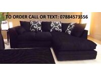 ZINA Luxury Corner Sofa Left Or Right HAND CORNER FAST DELIVERY + FREE CHROME FEET TODAY ONLY