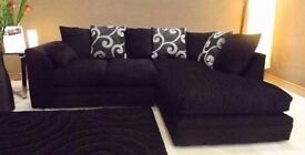 FREE CHROME FEET - BRAND NEW ZINA SWIRL CORNER SOFA + DELIVERY