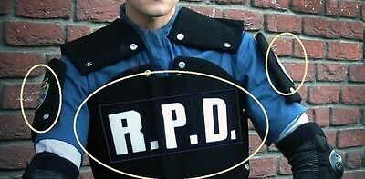 FANCY DRESS COSTUME HALLOWEEN PROP: RESIDENT EVIL RACCOON CITY POLICE R.P.D. SET