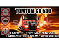 TOMTOM GO 530 TRUCK WITH LATEST EUROPE MAP v.971 MOST UPDATED ! - 8GB SDHC SanDisk ULTRA 40Mb/s
