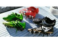 Adidas (size 6.5 and 7) and Gilbert football and rugby boots (size 6.5)