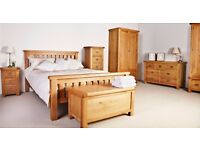 New Salisbury Erne Solid Oak Double Bed IN STOCK NOW £259
