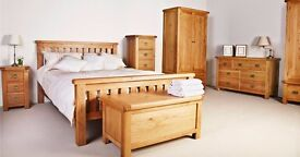 New solid oak double bed Only £249