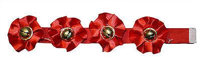 Rotes Weihnachtshalsband mit Glöckchen für kleine Hunde oder Haustiere (Weihnachten Kostüme Für Haustiere)