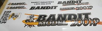 Brush Bandit Wood Chipper Model 200xp Decal Kit