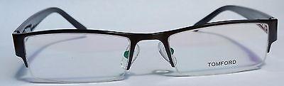 Tom Ford FT6003 Black Half Rim Optical Glasses, 53mm, 18mm, 135mm, Unisex