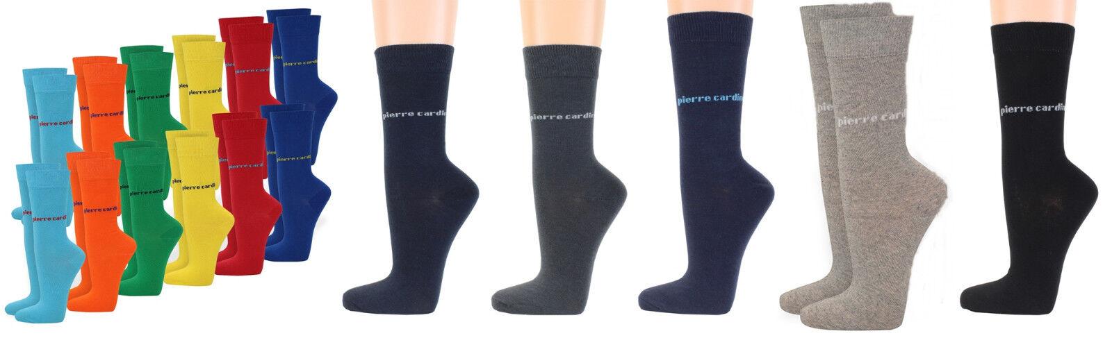Pierre Cardin 4 Paar farbige Herrensocken Socken Business Gr 39 42 oder 43 46